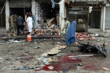 Suicide attack Jalalabad April 2015 by ISIS Taliban