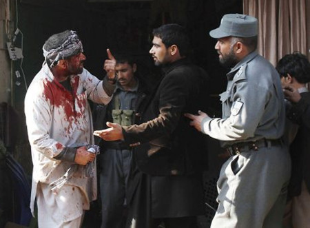 Two Afghans were wounded in a bomb explosion in Jalalabad the provincial capital of Nangarhar province