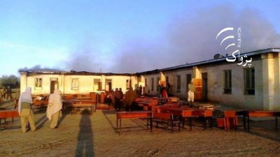 A girls school was lit on fire by militants in Logar province on Oct. 28, 2015