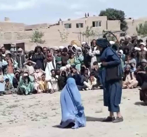 Flogging of women by Taliban is very common