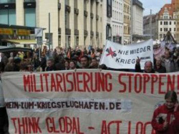 Thousands march in germany against NATO wars