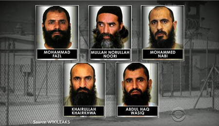 The top Taliban commanders freed from Guantanamo by the Obama administration in exchange for America's last prisoner of war in Afghanistan