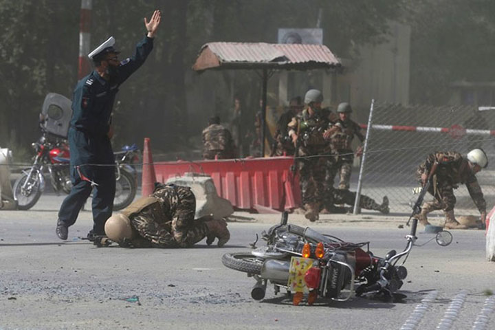 Twin blasts in Kabul killed ten journalists and dozens others on Apr 30, 2018