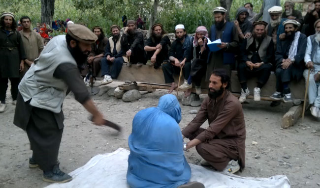Taliban lashed two women for attending a music party in Nooristan province, Afghanistan