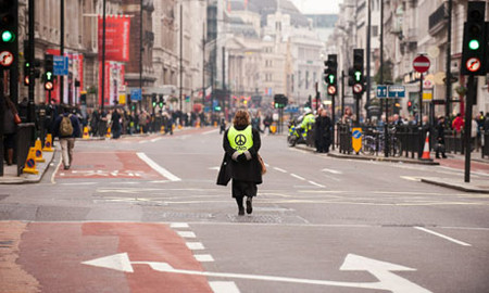 Anti-war protesters in London