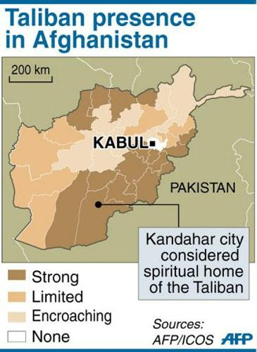 Afghanistan Taliban Map
