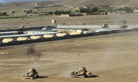 The US army's forward operating base in Logar province.