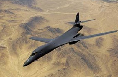 A U.S. Air Force B1-B Lancer bomber