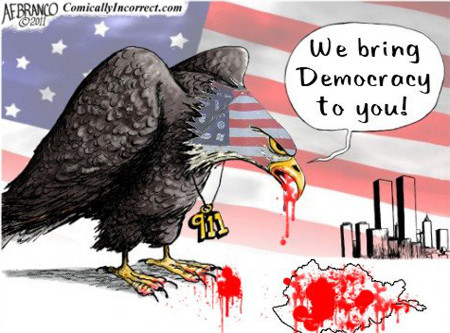 US not bringing democracy