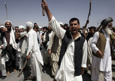 People in Wardak stage Anti-US protest