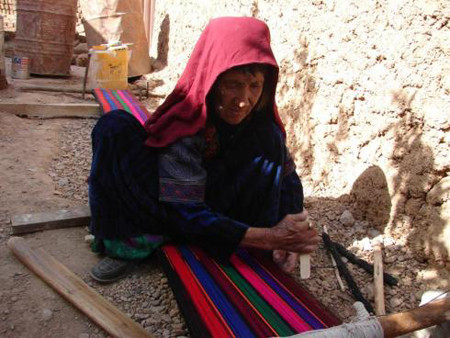 Woman working in Bamyan province