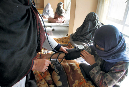 Women addicts in Kabul center