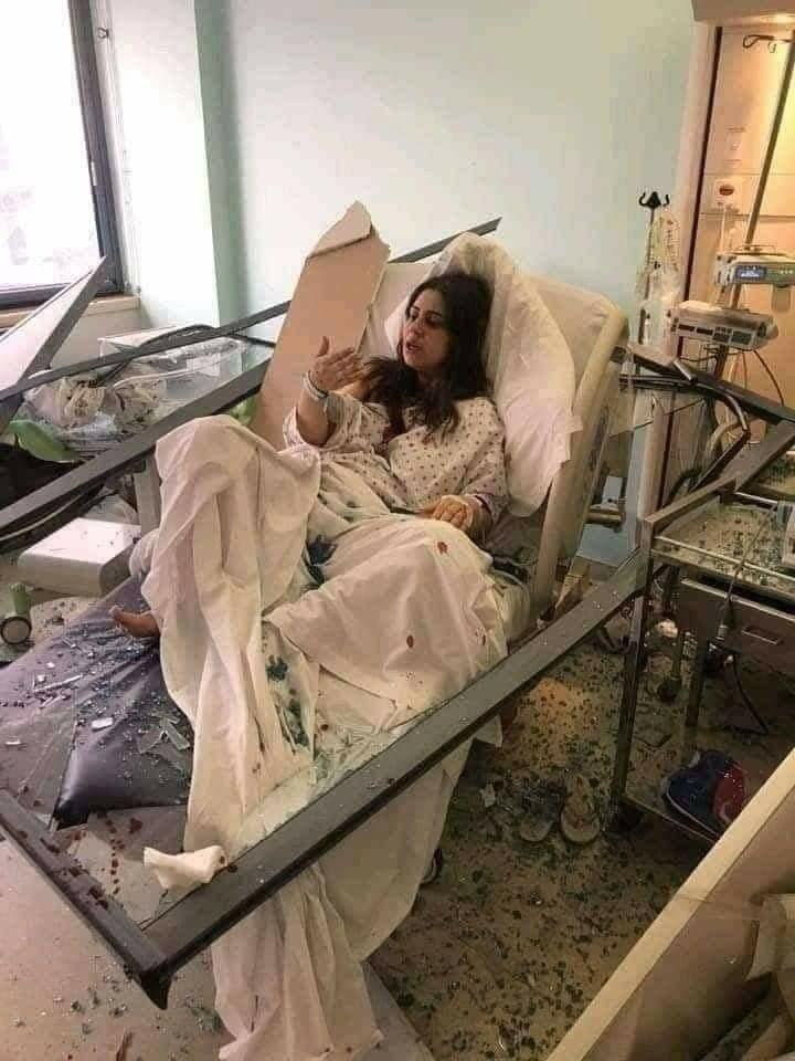 wonded women in hospital