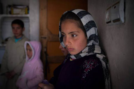 An eight- year-old girl who was traded in Kabul
