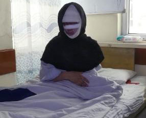 Zahra acid attacked by husband, Kabul, Afghanistan