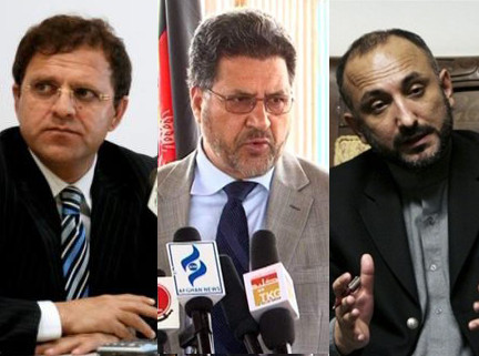 Zakhilwal and Wardak and Atmar are under suspicion of taking money from Kabul Bank