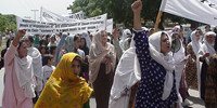 RAWA rally in Islamabad on Black Day of April 28, 2000