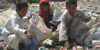 Afghan children in Kabul living in disastrous conditions