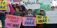 RAWA holds anti-war demo in Islamabad