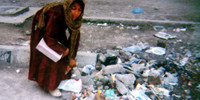 Afghan children of garbage in Pakistan