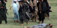 Taliban Publicly Cut Throat of a Victim