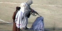Public execution of a woman by Taliban in Kabul