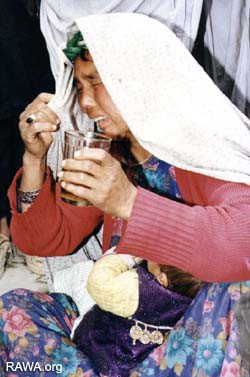 An Afghan women in Afshar