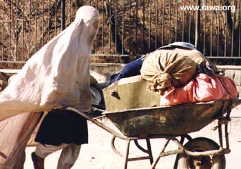 A woman in Afghanistan living under the Taliban.